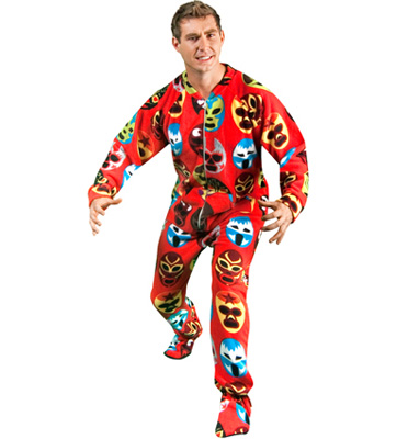 Footie Factory Wrestling Mask Footie Pajamas : Delicious Boutique