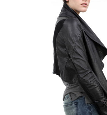 Kill City Drapy Leather Jacket | Delicious Boutique