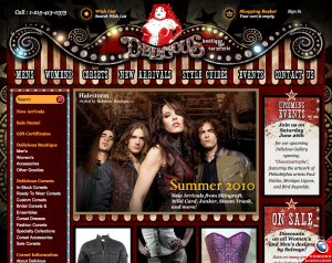 Our NEW Delicious Boutique site, 2010.