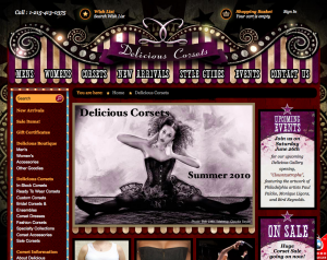 New Delicious Corsets site 2010