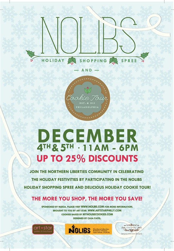 NoLibs Holiday Shopping Spree! Dec. 4-5