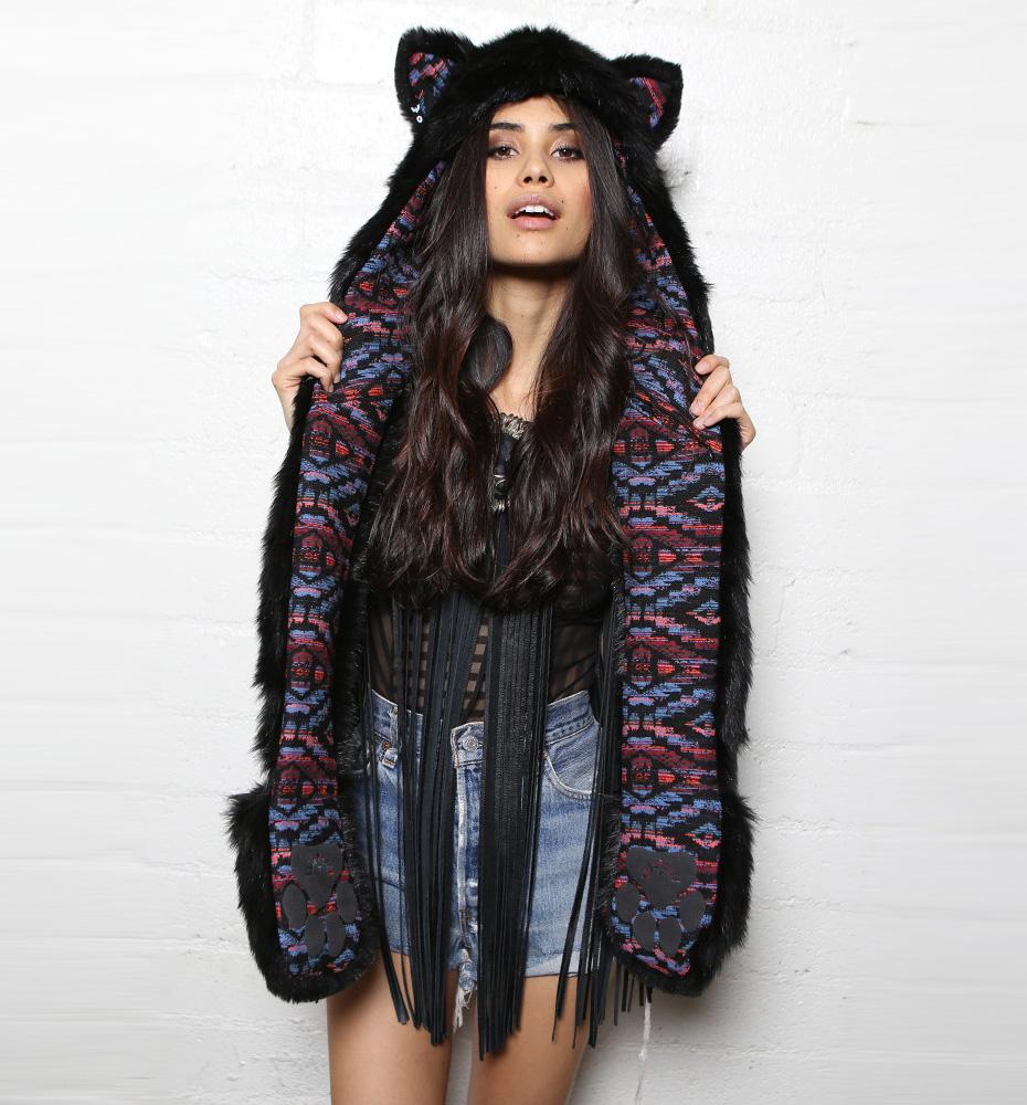 Spirit Hoods Black Kitty-Meow! Spirit Hood : Delicious Boutique